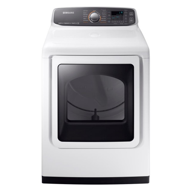 Samsung DVG52M7750W 7.4 cu. ft. Gas Dryer with Steam in White, ENERGY STAR