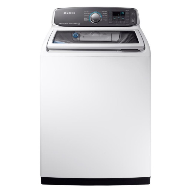 Samsung WA52M7750AW 5.2 cu. ft. High-Efficiency Top Load Washer with Steam and Activewash in White, ENERGY STAR