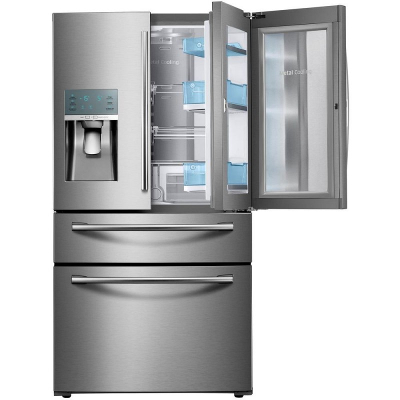 Samsung Rf22kredbsr 224 Cu Ft Food Showcase 4 Door French Door