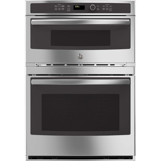 GE PT7800SHSS Profile 30 in. Built-In Electric Convection Wall Oven Self-Cleaning with Built-In Microwave in Stainless Steel