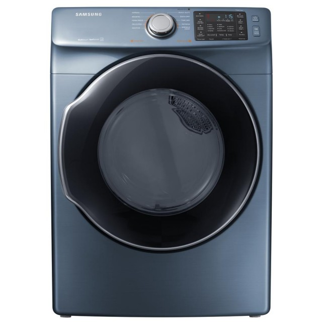 Samsung DVE45M5500Z 7.5 cu. ft. Electric Dryer with Steam in Azure, ENERGY STAR