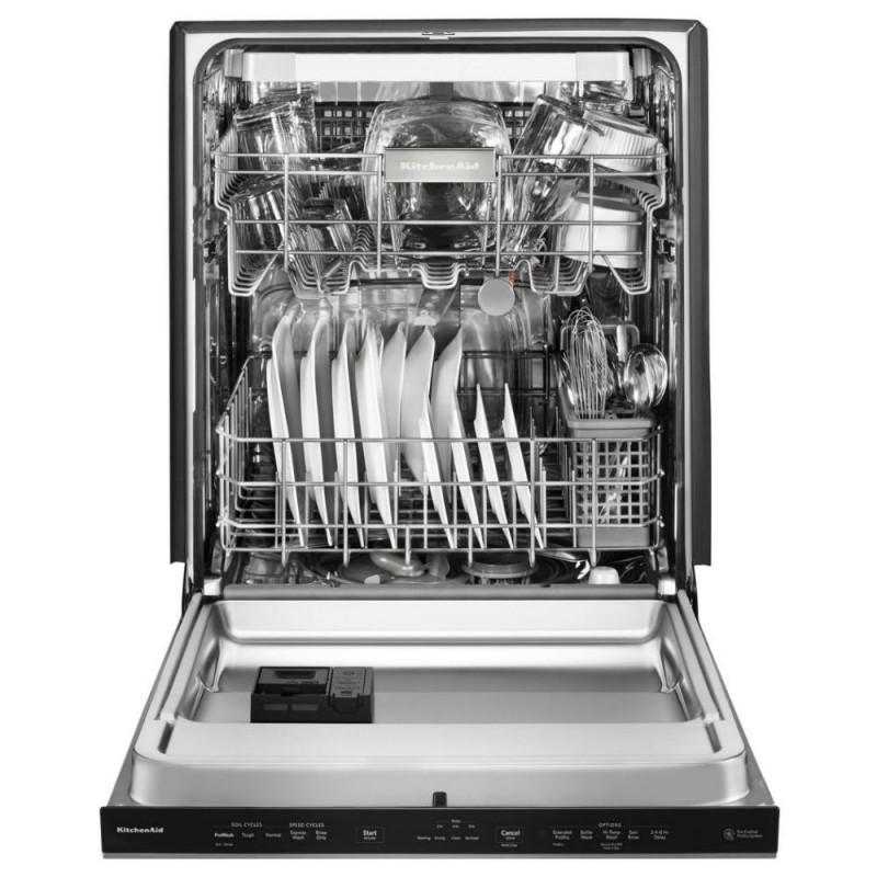 Kitchenaid Dishwasher Kdfe104dss: KitchenAid KDTE334GBS Top Control Built-In Tall Tub