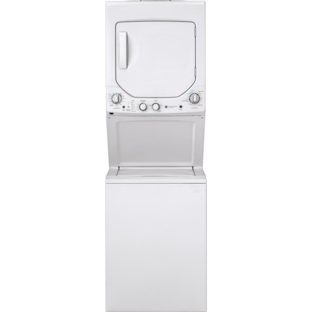 GE GUD24ESSMWW White Smart Laundry Center with 2.3 cu. ft. Washer and 4.4 cu. ft. 240-Volt Vented Electric Dryer