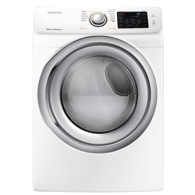 Samsung DVG45N5300W 7.5 cu. ft. Gas Dryer with Steam in White