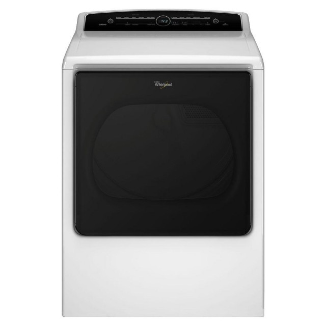 Whirlpool WGD8000DW 8.8 cu. ft. 120 Volt High-Efficiency White Gas Vented Dryer with Advanced Moisture Sensing and Intuitive Touch Controls