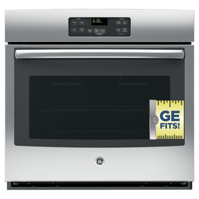 GE JT1000SFSS 30 in. Single Electric Wall Oven Standard Cleaning with Steam in Stainless Steel