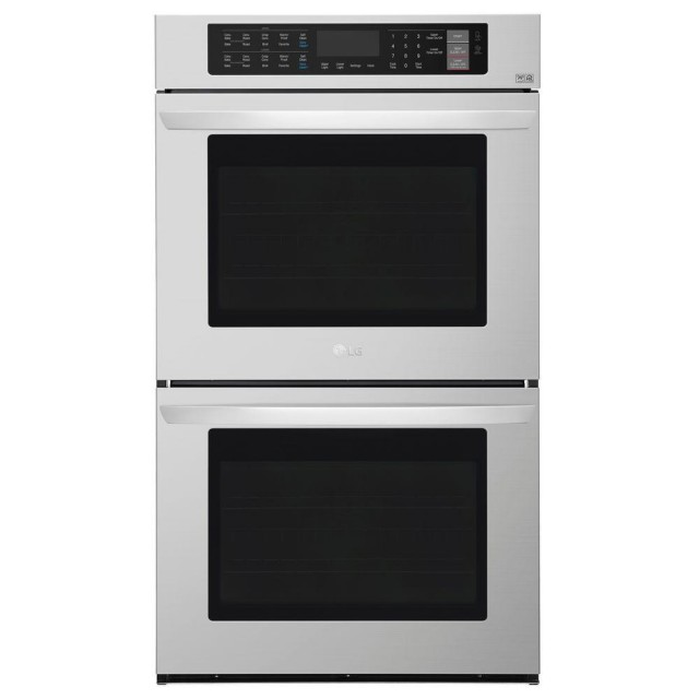 LG LWD3063ST 30 in. Double Electric Wall Oven Self-Cleaning with Convection and EasyClean in Stainless Steel