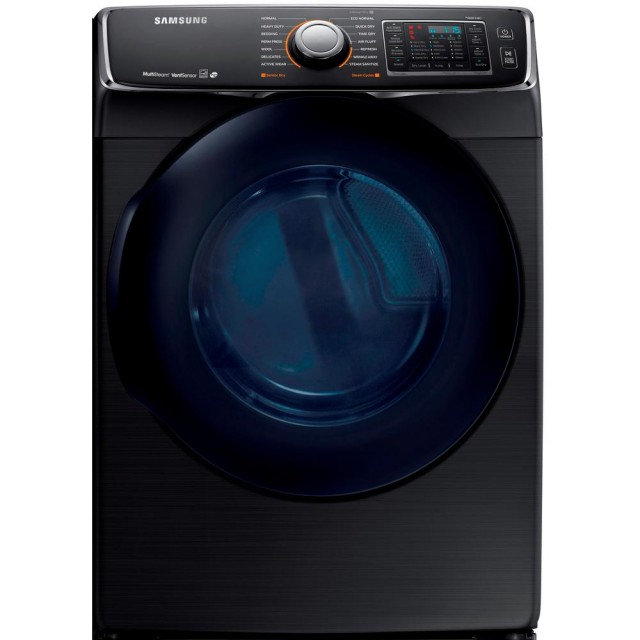 Samsung DV45K6500EV 7.5 cu. ft. Electric Dryer with Steam in Black Stainless Steel, ENERGY STAR