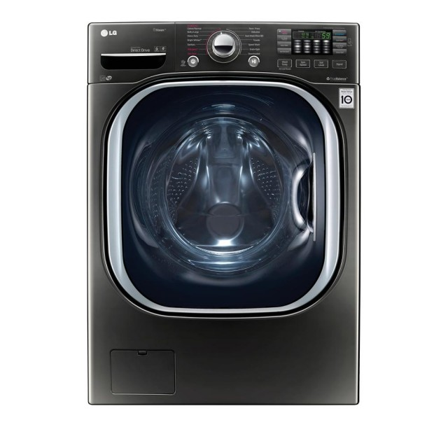 LG WM4370HKA 4.5 cu. ft. High-Efficiency Front Load Washer with Steam and TurboWash in Black Stainless Steel, ENERGY STAR