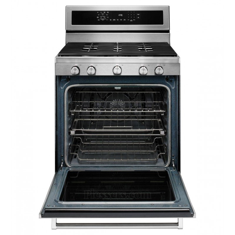 Kitchenaid Kfgs530ess0 5 Burner Freestanding 8 Cu Ft Self Cleaning Convection Gas Range Stainless Steel