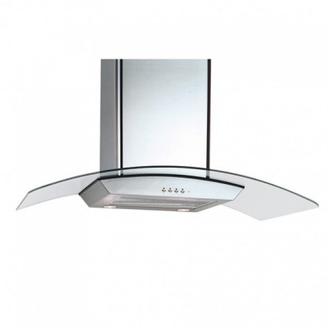 Equator CG36 Deco 36-In Curved Glass Series, Stainless Steel, Wall Mount Range Hoods