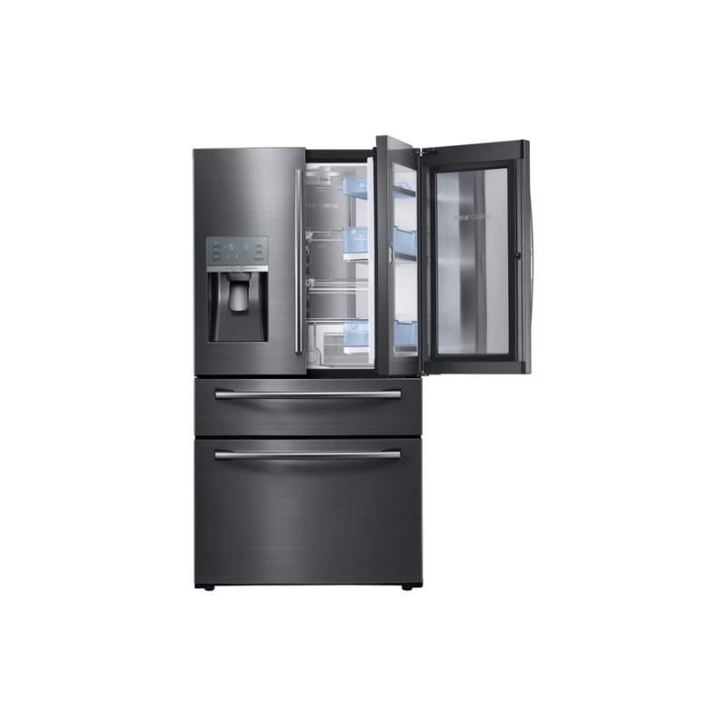 Samsung RF28JBEDBSG Food Showcase 27.8 Cu Ft 4 Door French Door Refrigerator  With Ice Maker And Door Within Door (Black Stainless Steel) ...