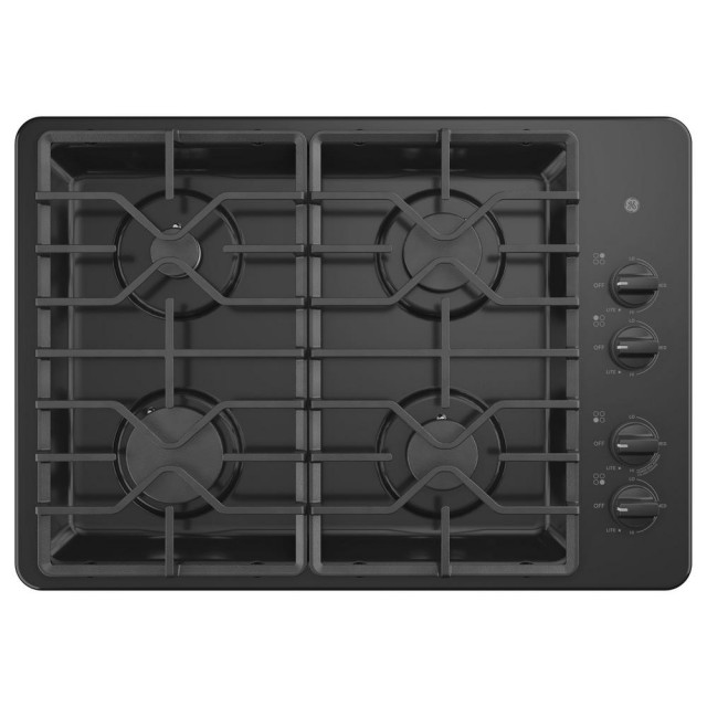 GE JGP3030DLBB 30 in. Gas Cooktop in Black with 4 Burners including Power Burners