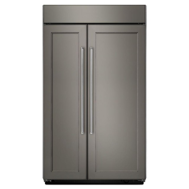 KitchenAid KBSN608EPA 48 inch 30 cu. ft. Built-In Side by Side Refrigerator in Panel Ready