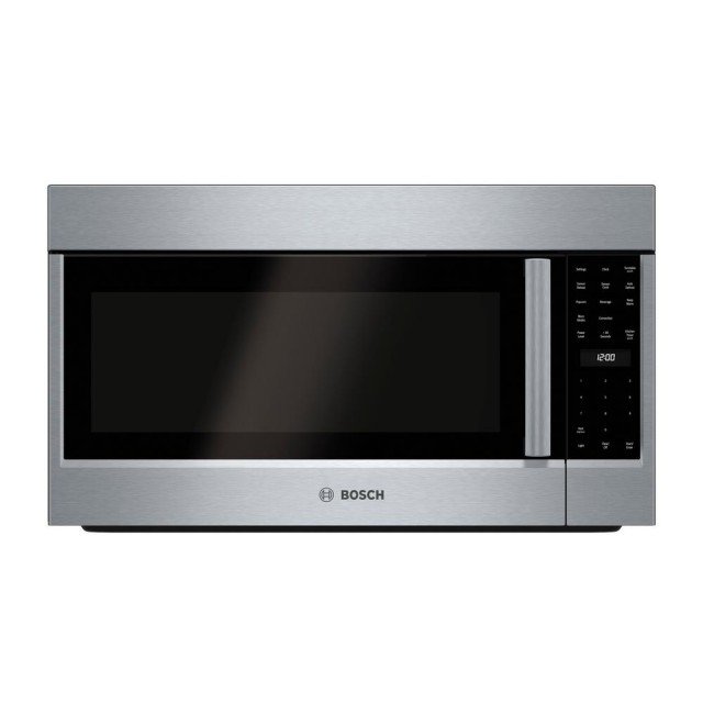 Bosch HMV8053U 800 Series 30 in. 1.8 cu. ft. Over the Range Convection Microwave in Stainless Steel