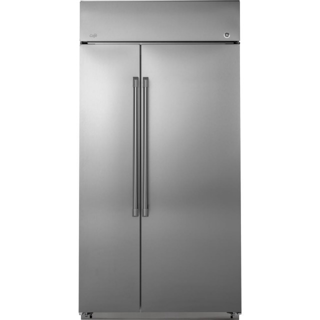 GE CSB42WSKSS Cafe Series 42 Inch 25.2 cu. ft. Built-In Side by Side Refrigerator in Stainless Steel