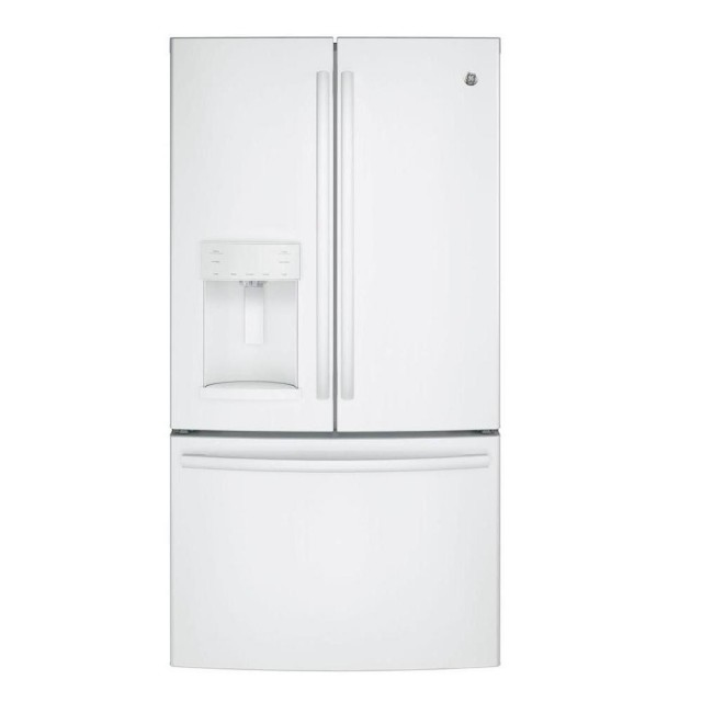 GE GFE28GGKIWW 27.8 cu. ft. French Door Refrigerator in White
