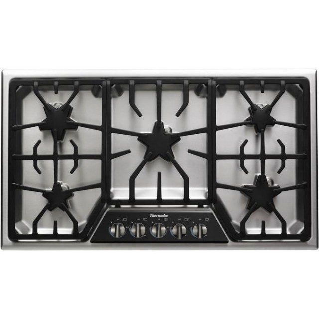 Thermador SGSX365FS Masterpiece Stainless 36 Inch Gas Cooktop
