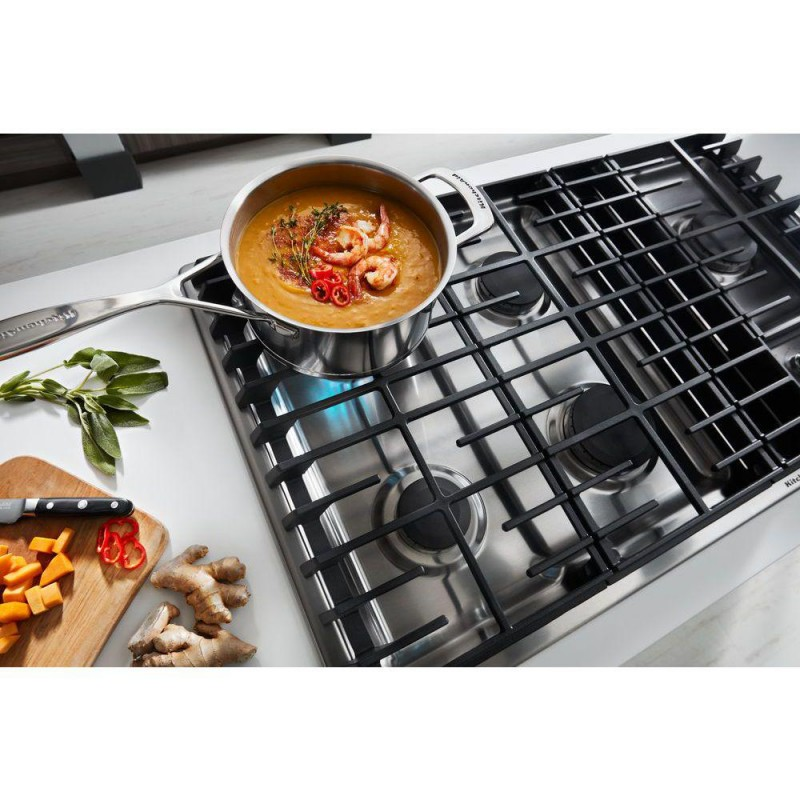Superbe KitchenAid KCGD506GSS 36 In. Gas Downdraft Cooktop In Stainless Steel With  5 Burners
