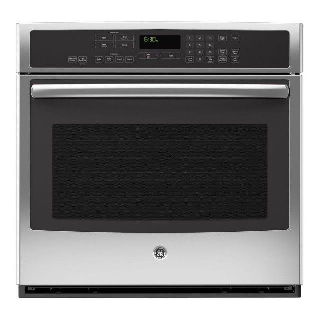 GE PT9050SFSS Profile 30 in. Single Electric Wall Oven Self-Cleaning with Convection in Stainless Steel