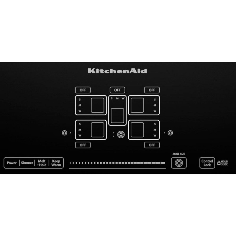 KitchenAid KECC667BBL 36 In. Ceramic Glass Electric Cooktop In Black With 5  Elements Including Triple Ring ...