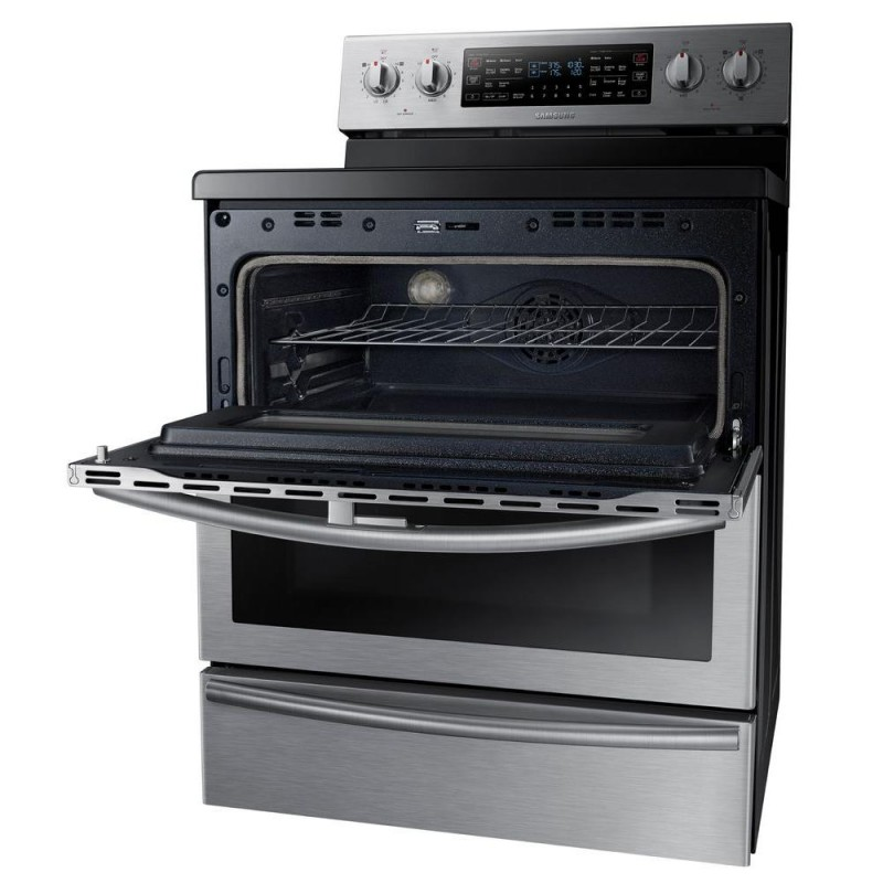 Electric Oven Open ~ Samsung ne j ws in cu ft flex duo double