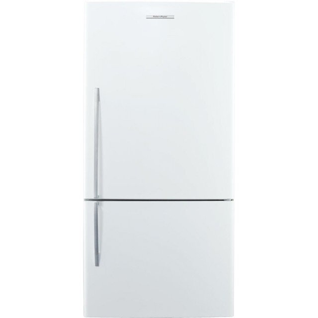 Fisher Paykel E522BRE5 32 Inch Counter Depth Bottom Freezer Refrigerator with 17.6 cu. ft. Total Capacity in White