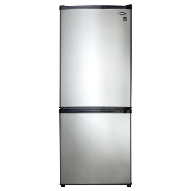 Danby DFF092C1BSLDB 24 in. W 9.2 cu. ft. Bottom Freezer Refrigerator in Stainless Look, Counter Depth