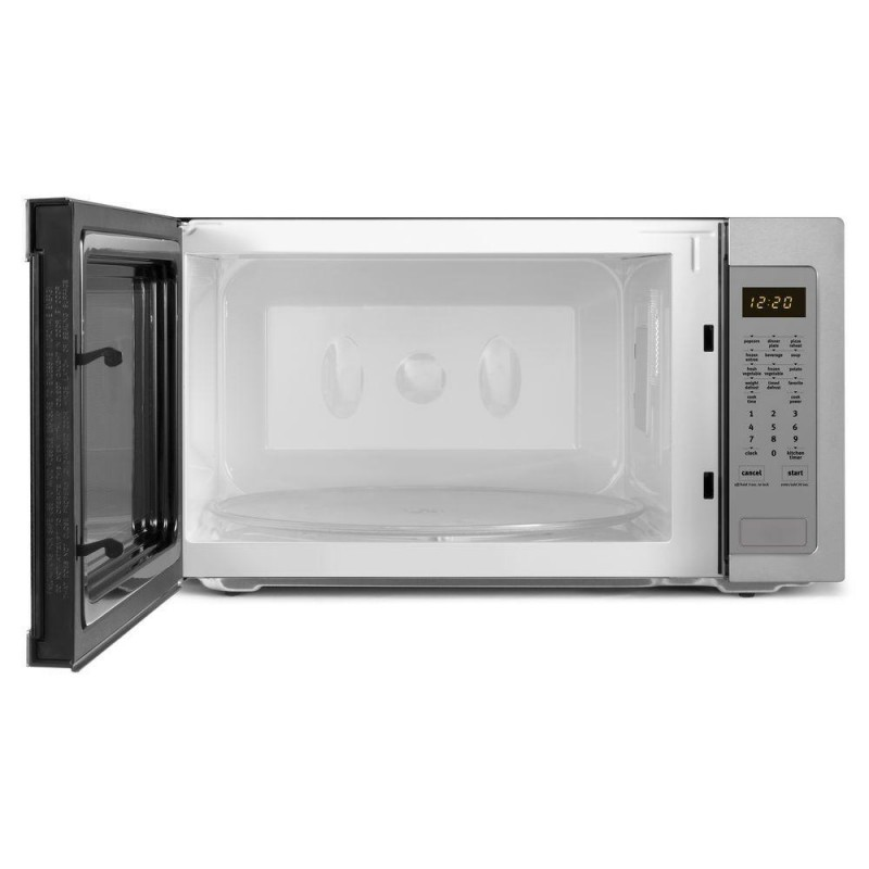 whirlpool umc5225ds 2 2 cu ft countertop microwave in stainless steel built in capable with. Black Bedroom Furniture Sets. Home Design Ideas