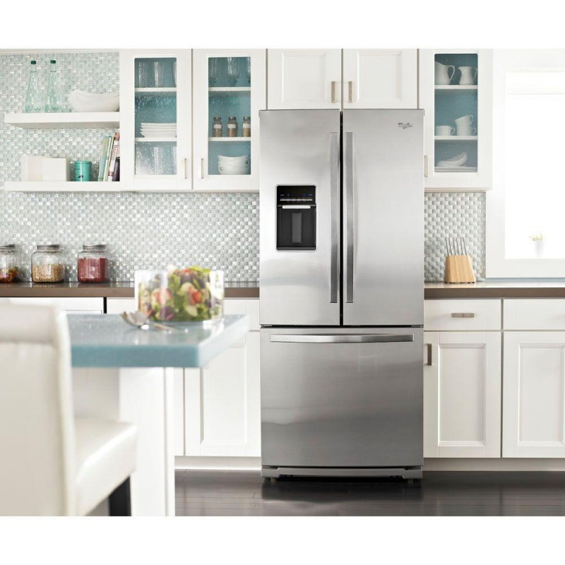 Kitchenaid 30 In W 19 7 Cu Ft French Door Refrigerator: Whirlpool WRF560SEYM 30 In. W 19.7 Cu. Ft. French Door Refrigerator In Monochromatic Stainless Steel