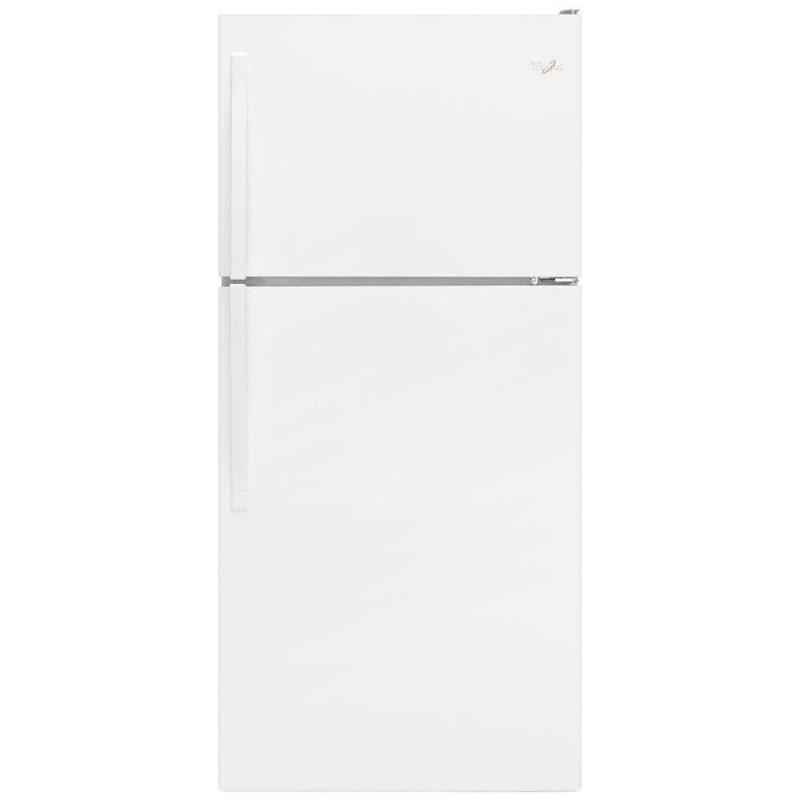 refrigerator 30. whirlpool wrt318fzdw 30 in. w 18.2 cu. ft. top freezer refrigerator in white