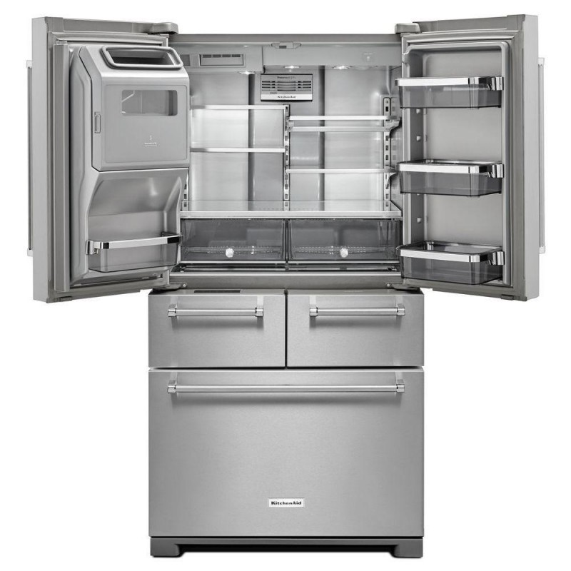 Kitchenaid krmf706ess 25 8 cu ft french door - Kitchenaid refrigerator platinum interior ...