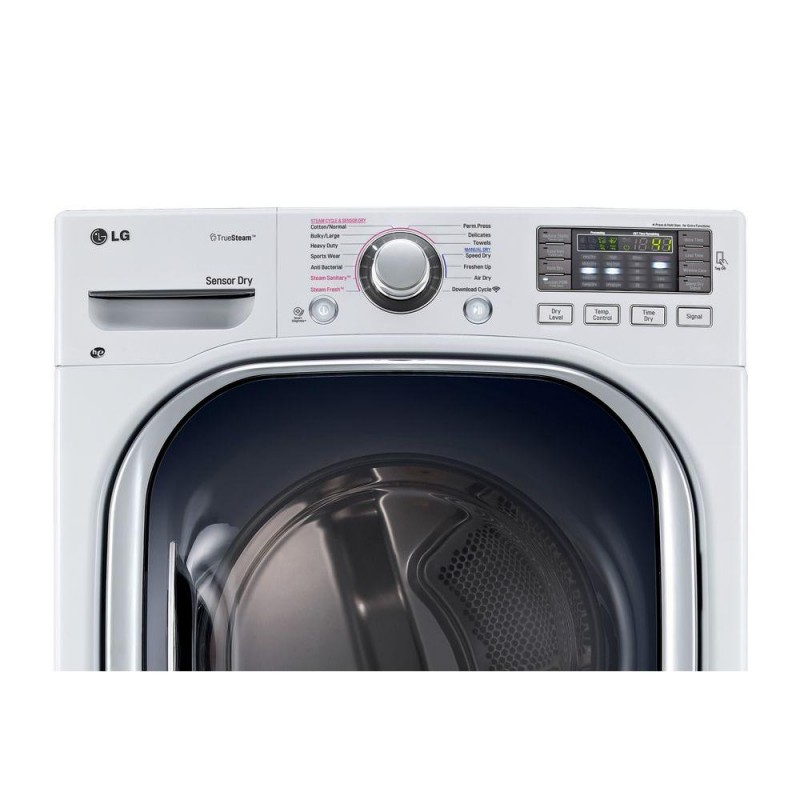Lg 7 4 Cu Ft Gas Dryer With True Steam In White Amp 4 5