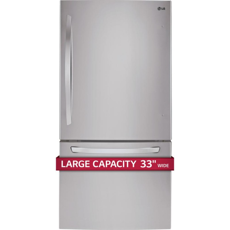 Lg Ldcs24223s 24 Cu Ft 33 Quot Bottom Freezer Refrigerator