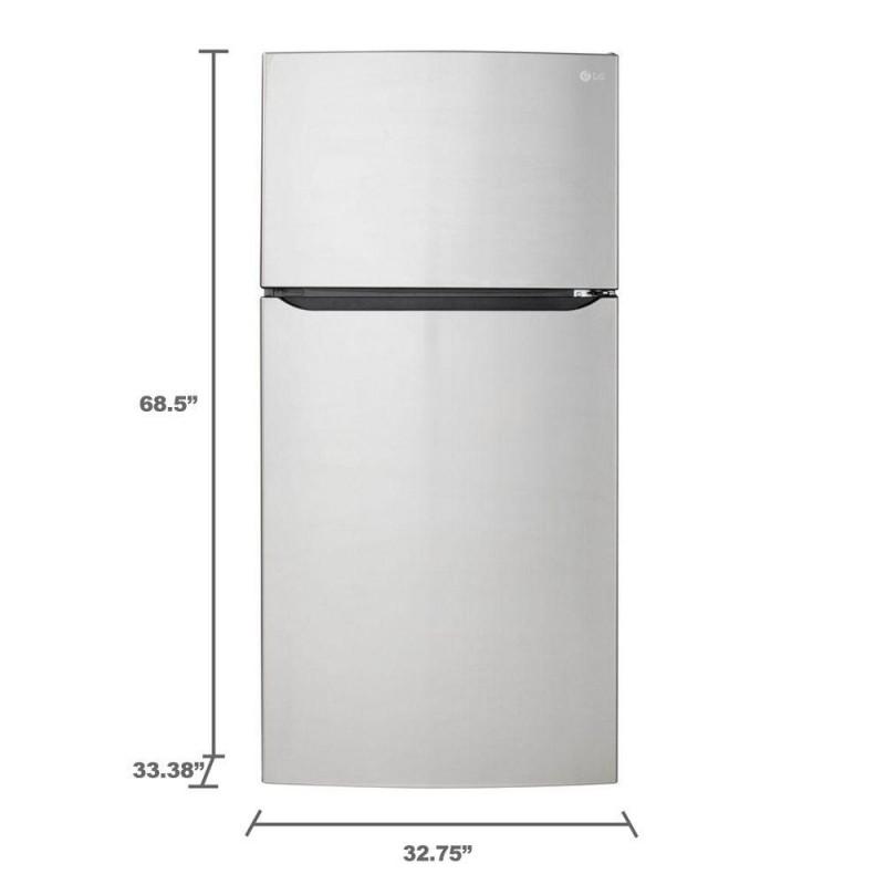 lg refrigerator ltcs24223s. lg ltcs24223s 23.8 cu. ft. top freezer refrigerator in stainless steel lg ltcs24223s 3