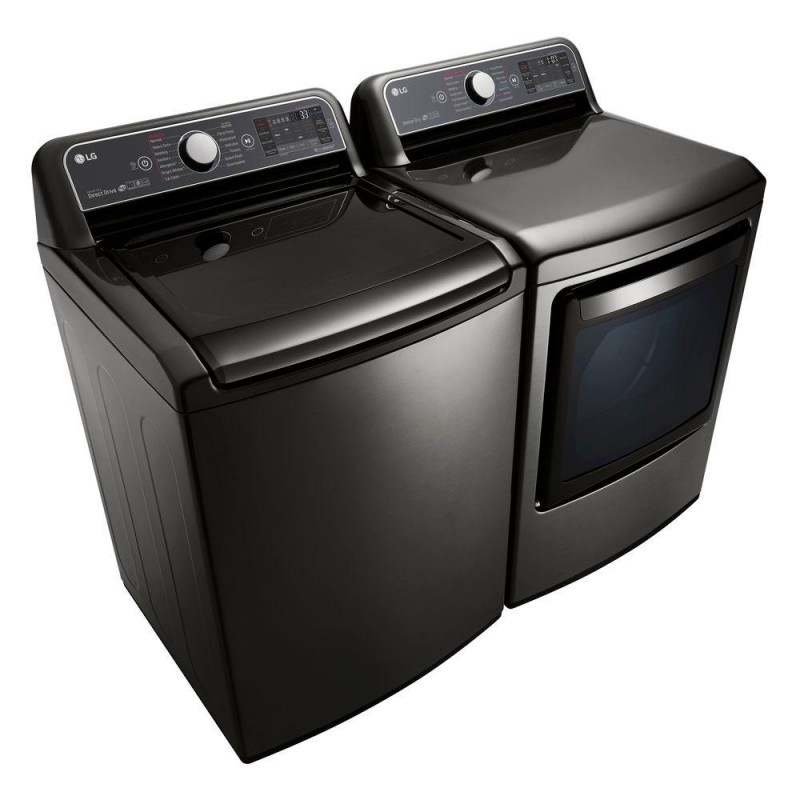 Lg Washer Amp Dryer Set Black Stainless Steel
