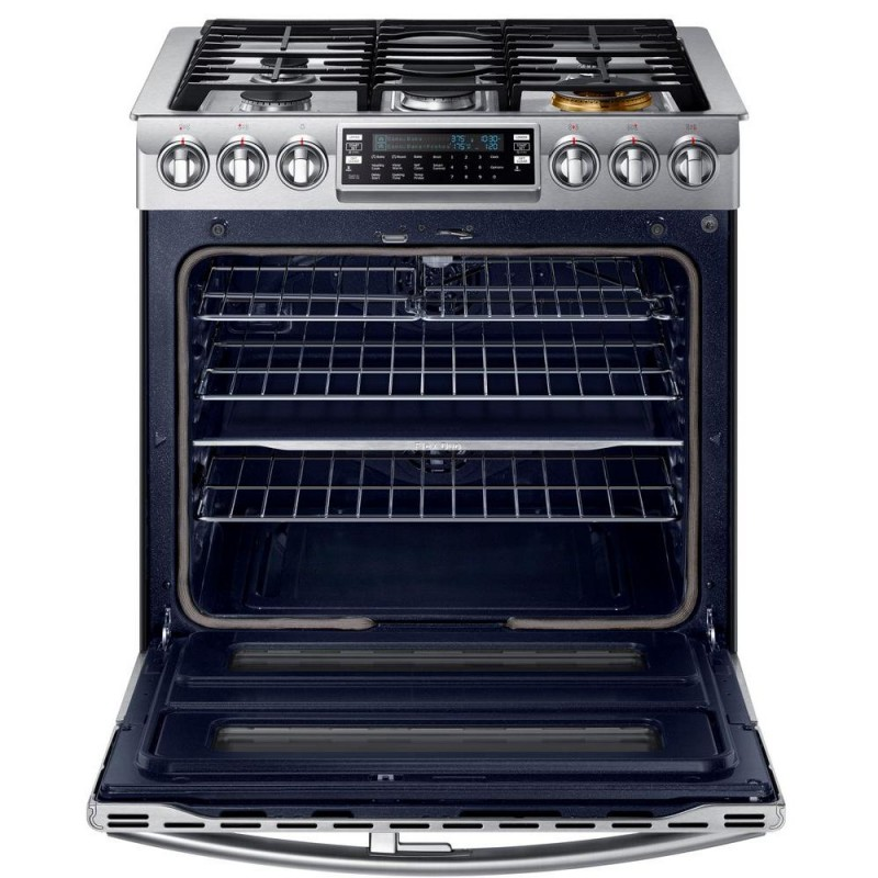 slidein double oven gas range with convection oven - Gas Range Double Oven
