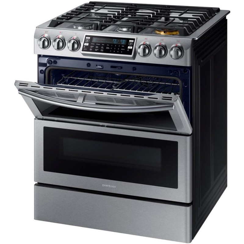 Slide In Double Oven Gas Range With Self Cleaning Convection