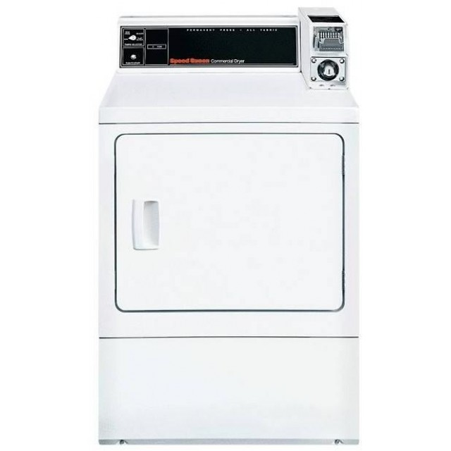 Speed Queen SDGSXRGS113TW01 27 Inch Commercial Gas Single Pocket Dryer with 18 lbs. Capacity in White