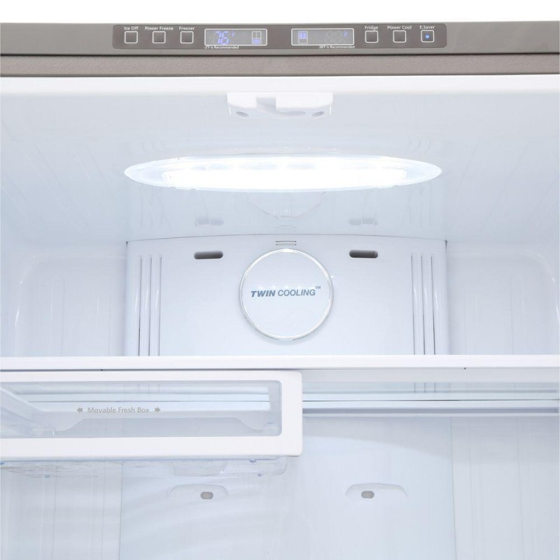 samsung rf18hfenbsr 33 in w 175 cu ft french door in stainless steel counter depth