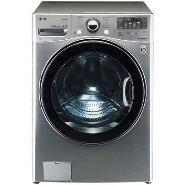 LG WM3470HVA TurboWash Series 4.0 cu. ft. Front Load Washer in Graphite Steel