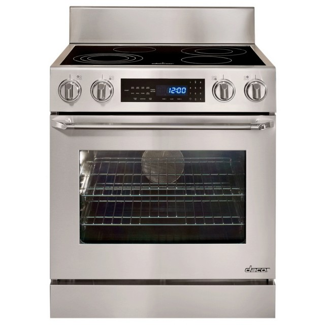 Dacor Distinctive Series DR30EFS 30 In. 4.8 cu. ft. Freestanding Convection Self-Cleaning Oven Electric Range in Stainless Steel