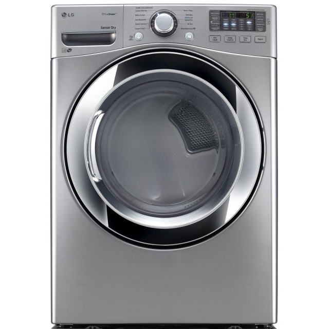 LG DLGX3371V 7.4 cu. ft. Gas Dryer with Steam in Graphite Steel, ENERGY STAR