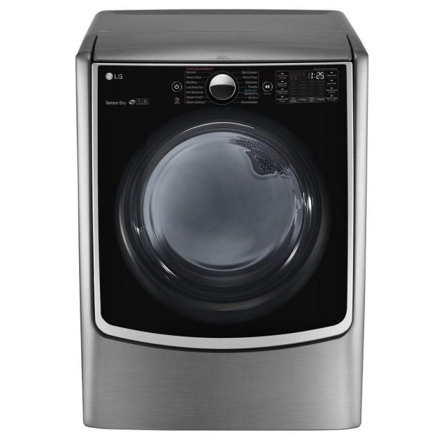 LG DLGX5001V 7.4 cu. ft. Smart Gas Dryer with Steam and WiFi Enabled in Graphite Steel, ENERGY STAR