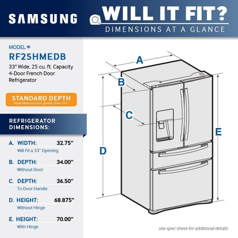 "Samsung 33"" French Door Refrigerator"