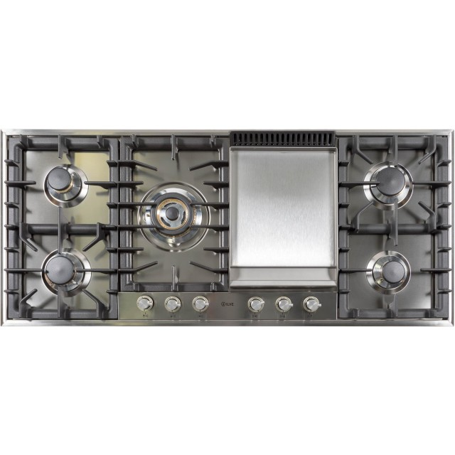 48 Inch Liquid Propane Gas Cooktop in Stainless Steel