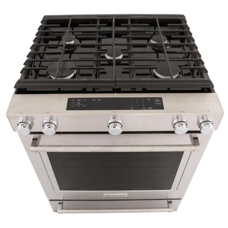slidein gas range with convection oven in stainless steel - Slide In Gas Range