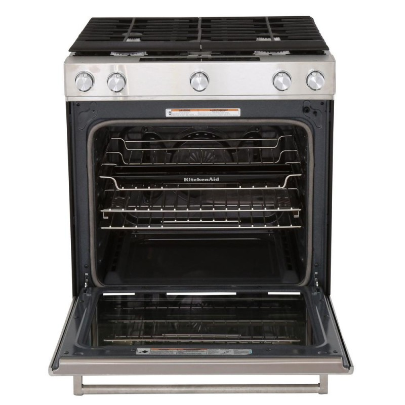 KitchenAid KSGG700ESS 30 In. 5.8 Cu. Ft. Slide In Gas Range With  Self Cleaning Convection Oven ...