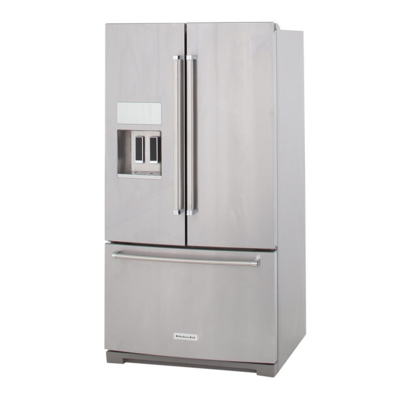 KitchenAid 36 in. W 26.8 cu. ft. French Door Refrigerator in Stainless Steel