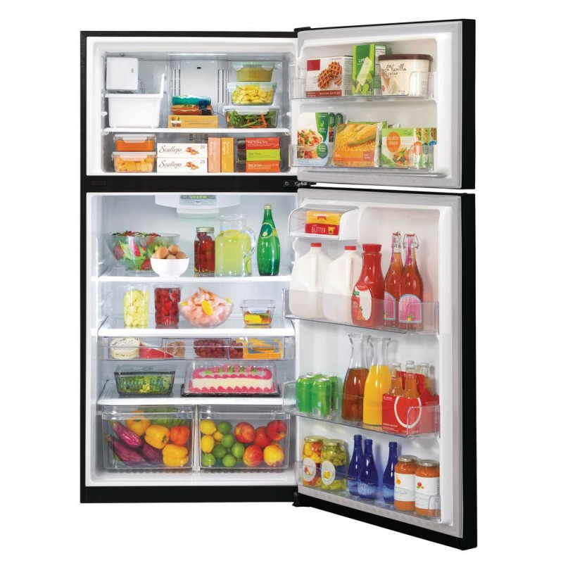 Lg Ltcs24223b 24 Cu Ft Top Freezer Refrigerator In